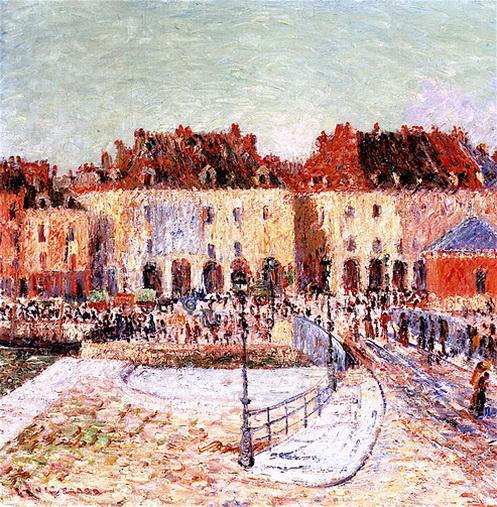 Gustave Loiseau -  Dieppe, Fish Market