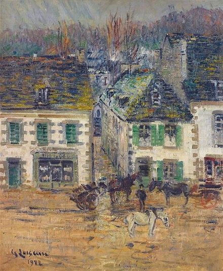 Gustave Loiseau - Hostel in Pont-Aven after rain