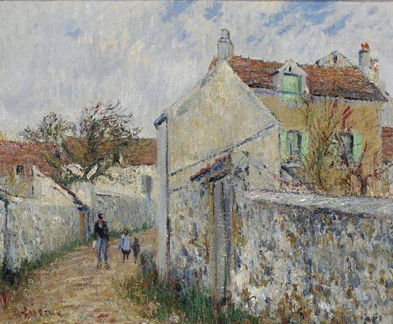 Gustave Loiseau - La Petite Rue aa Triel-sur-Seine