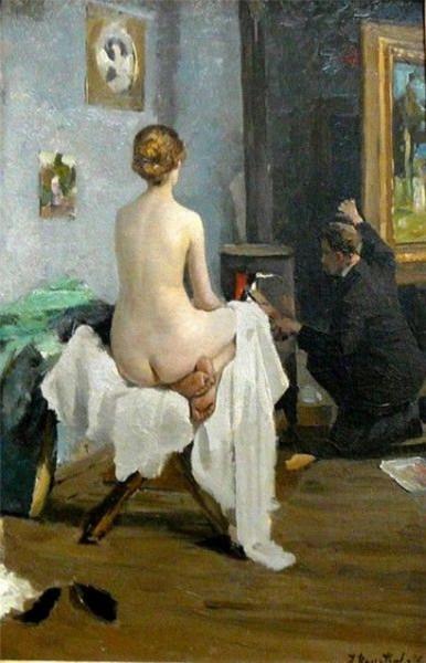 Janis Rozentals - в мастерской художника