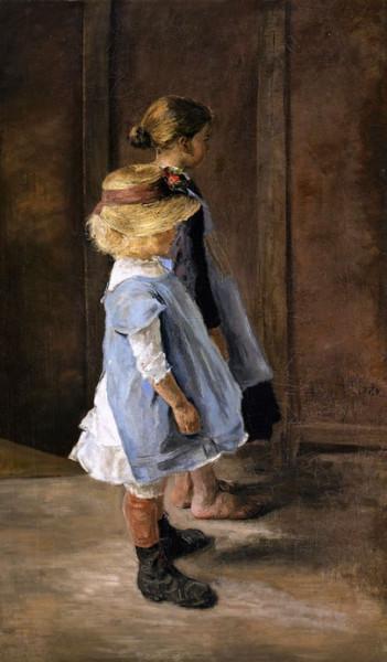 Fritz Von Uhde - Children Study