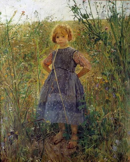 Fritz Von Uhde - Little Princess on the Heath