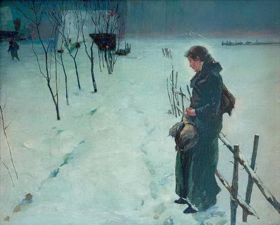 Fritz Von Uhde - Winter landscape
