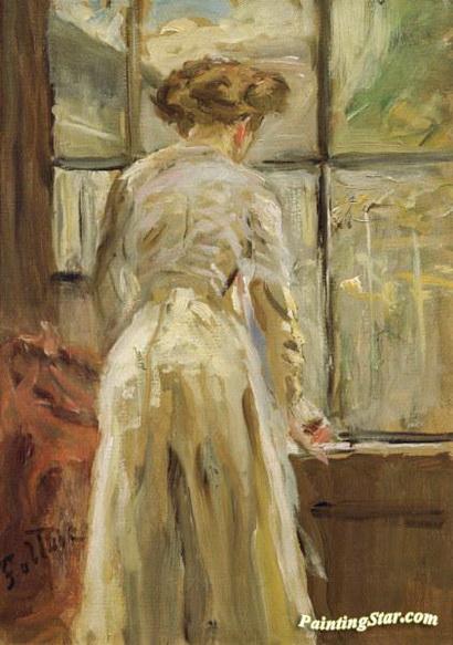 Fritz Von Uhde - Woman At The Window