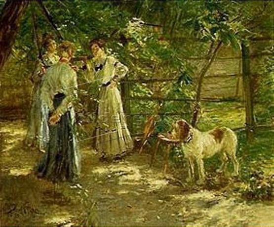 Fritz Von Uhde - In the Garden