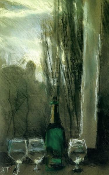 Яблонская - Натюрморт с зеленой бутылкой