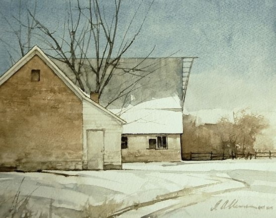 Joseph Alleman - Old Brick and Barn