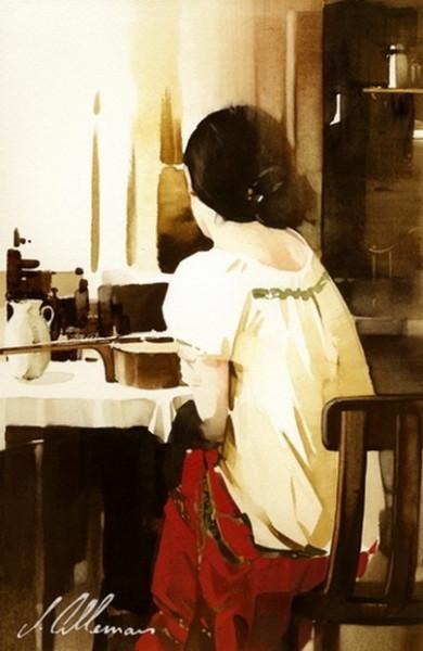 Joseph Alleman -  Seated Girl