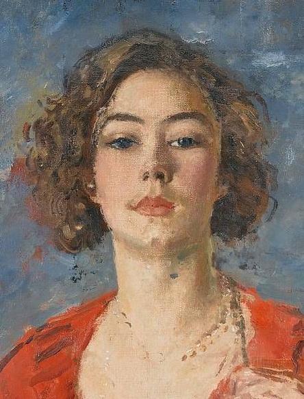 Augustus Edwin John - Portrait of Poppet