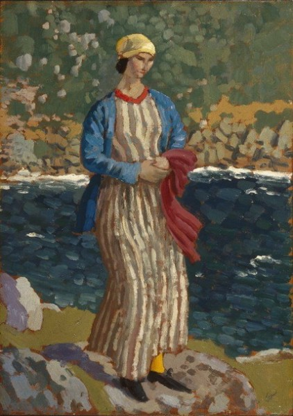 Augustus Edwin John - Woman by a Riverbank