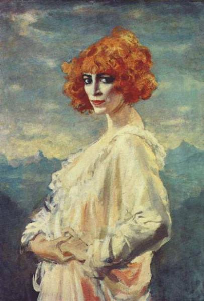 Augustus Edwin John - Portrait of Marchesa Luisa Casati