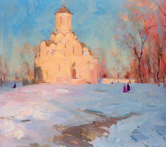 Косничев - Andronikov Monastery At Evening