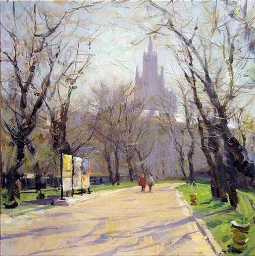 Косничев - Yauzsky boulevard, day