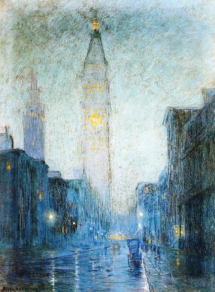 Lowell Birge Harrison - Madison Avenue at Twilight