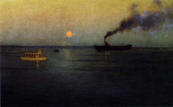 Lowell Birge Harrison - Rosy Moon Off Charleston Harbor