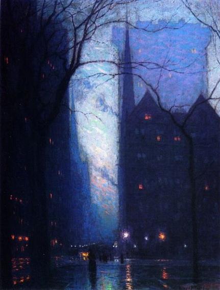 Lowell Birge Harrison - Fifth Avenue At Twilight