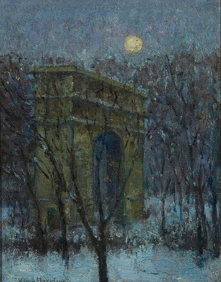 Lowell Birge Harrison - Evening, Washington Square