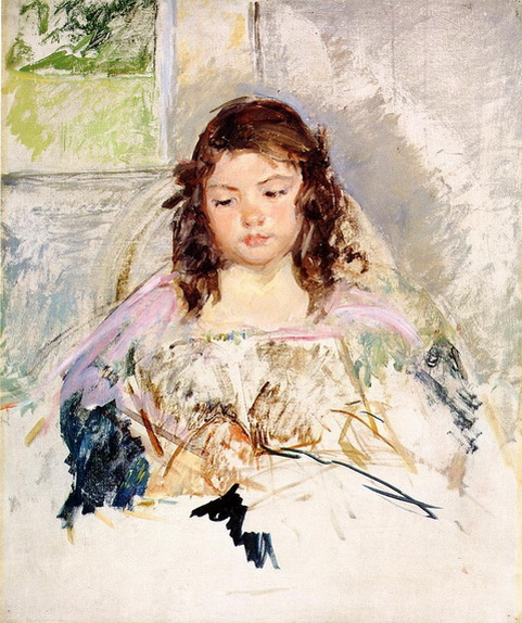 Mary Cassatt Girl in Pink