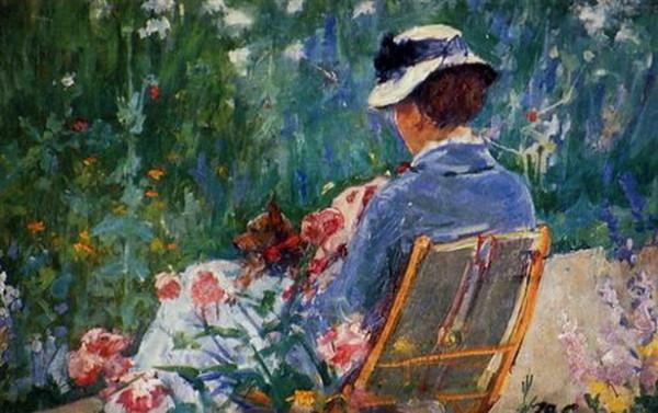 Mary Cassatt Lydia Seated in the Garden