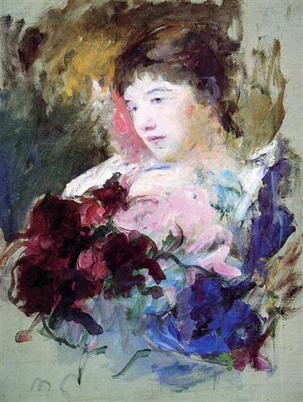Mary Cassatt девушка с букетом