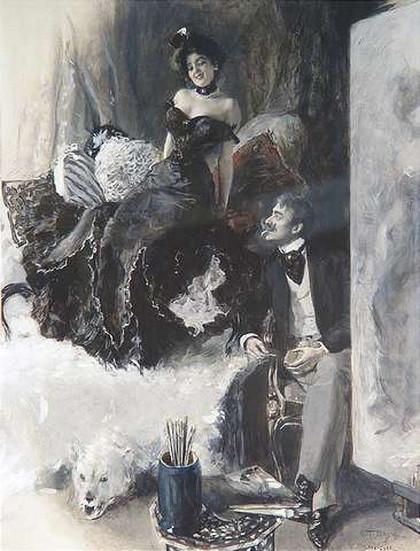 Oscar Bluhm - Im Atelier