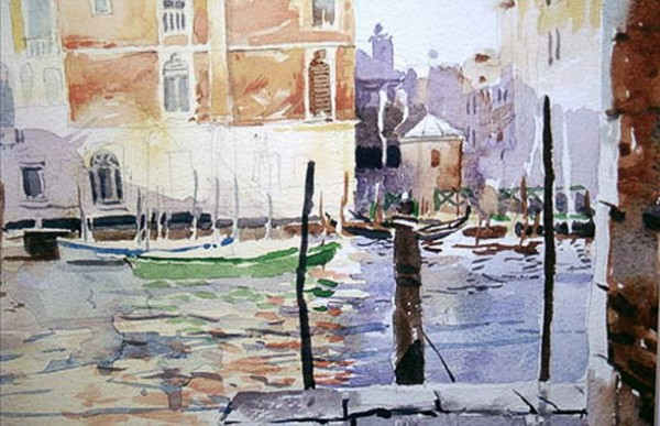 Mike Chaplin - Venice Grand Canal from the Fish Market