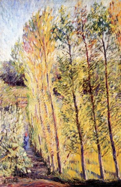 Nicolas Tarkhoff - Avenue with Poplar Trees