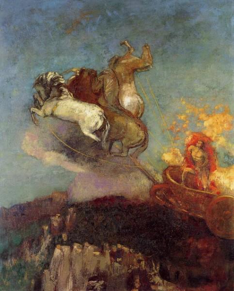 Odilon Redon - Apollos chariot (1907-8)