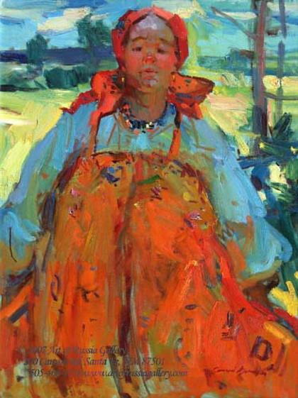 Sergei Bongart - Russian Peasant Woman