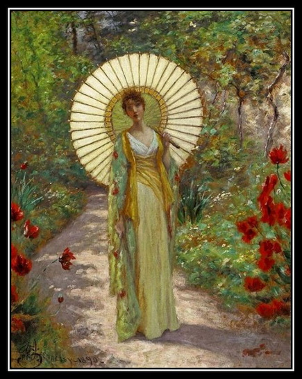 William John  Hennessy - Le parasol japonais