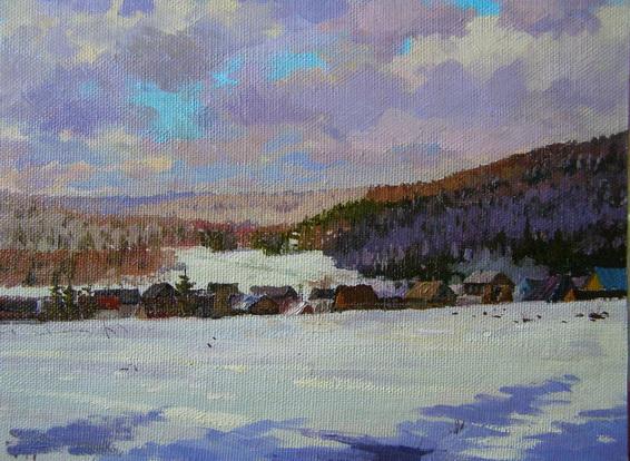 Ралиф Ахметшин - Зимний день в деревне