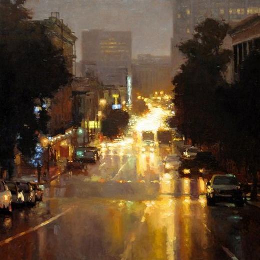 Jeremy Mann - Lights In Rain Larkin St