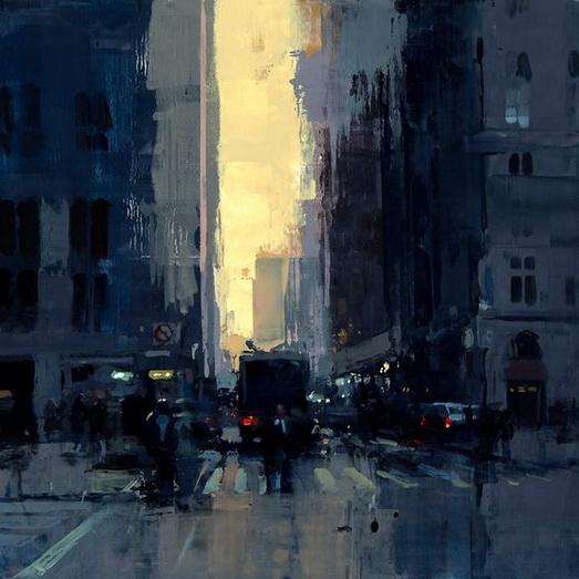 Jeremy Mann - New York Sunset