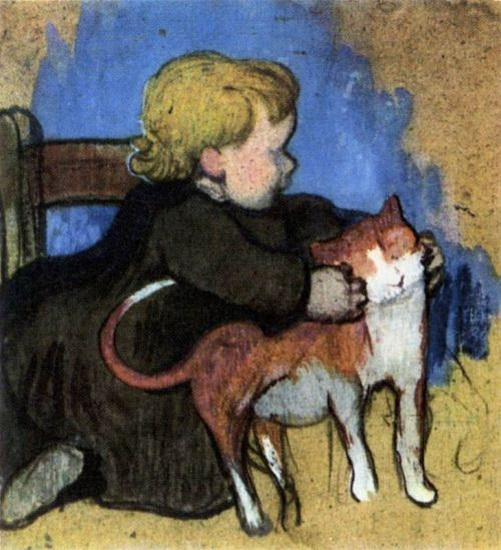 Paul Gauguin – Mimi and Her Cat.