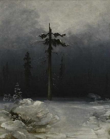 Peder Balke - Tree in a Wintery Forest