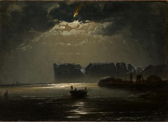 Peder Balke - The North Cape by Moonlight