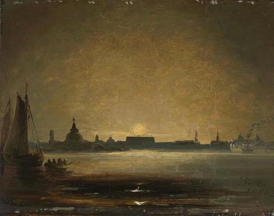 Peder Balke - Dresden in Moonlight