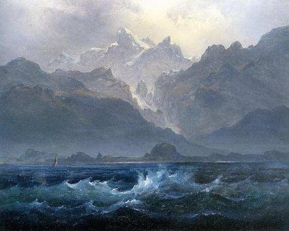 Peder Balke -  The Seven Sisters Mountain Range