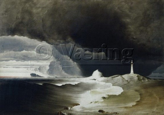 Peder Balke -  Lighthouse on the norwegian coast