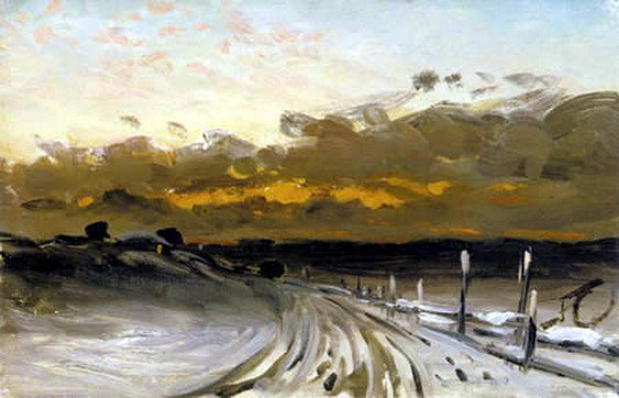 Fanny Churberg - Talvimaisema, iltarusko