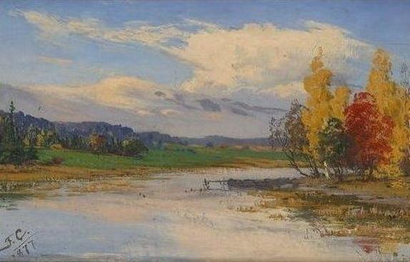 Fanny Churberg - Herbstlandschaft