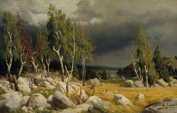 Fanny Churberg - rodung landschaft von uusimaa