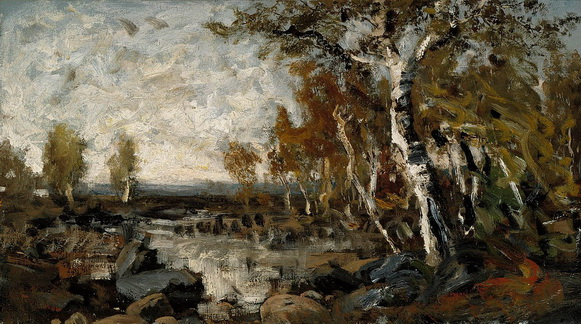 Fanny Churberg - Birches by the Water