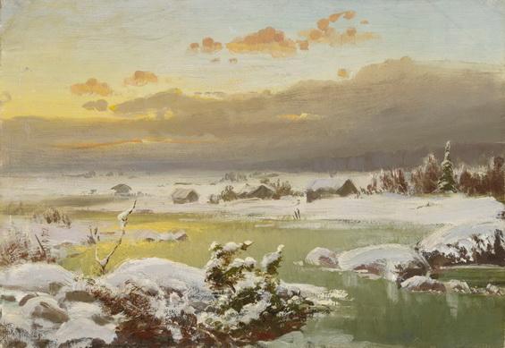 Fanny Churberg -  Talvimaisema