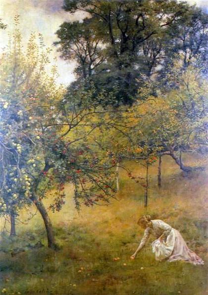 John Maler Collier - A Devonshire Orchard