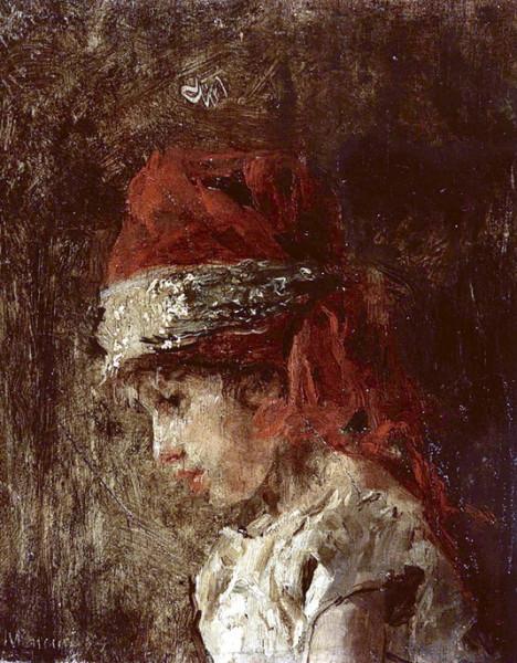 Antonio Mancini  - Luigiello with turban