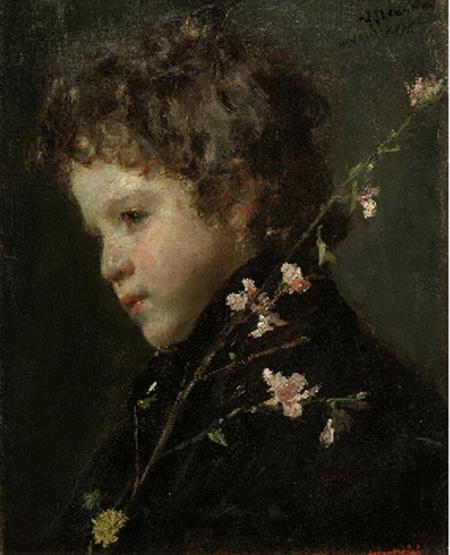 Antonio Mancini  - Almond Blossoms