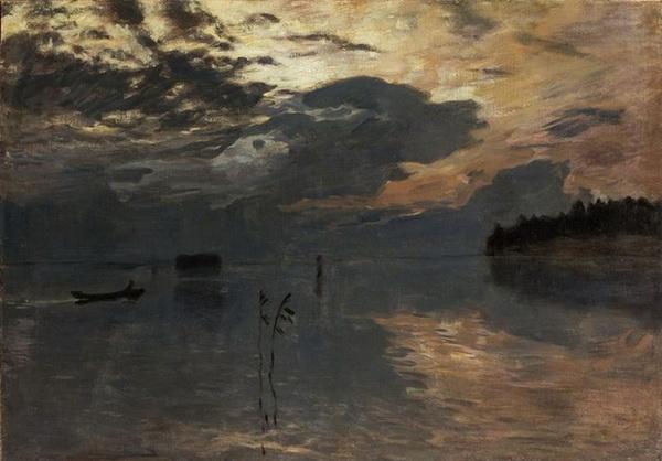 Levitan -  Twilight on the Water