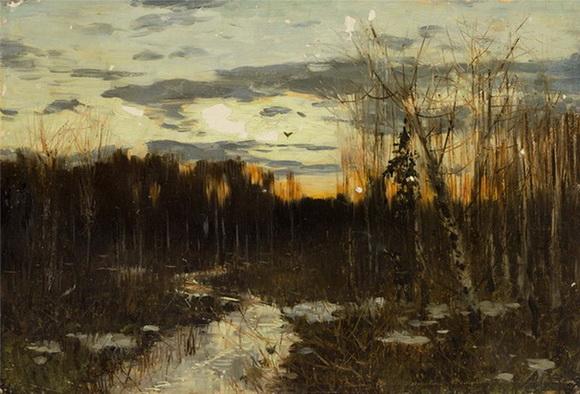Levitan -  Ранняя весна. Закат
