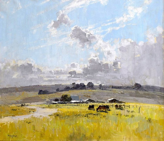 Penleigh Boyd - Landscape With Cattle And Farm Buildings